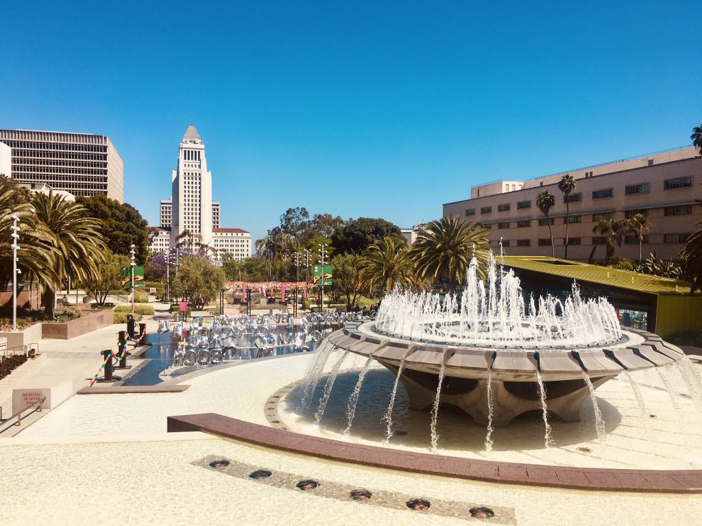 Down Los Angeles is a big transportation hub for carless travelers