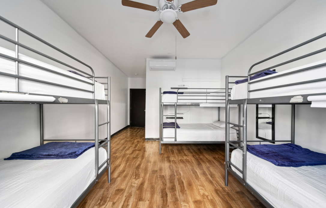 Clean shared bedrooms at a cheap price