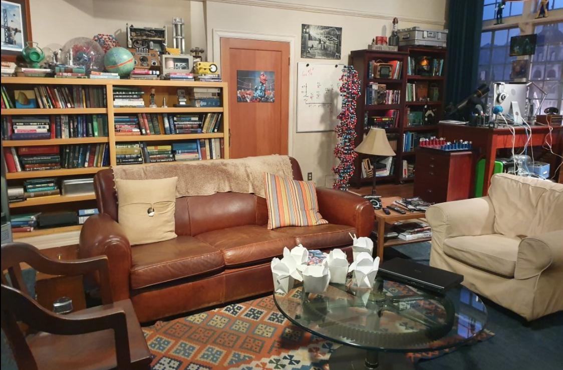 Sights on the Warner Bros Studio tour: The Big Bang Theory living room