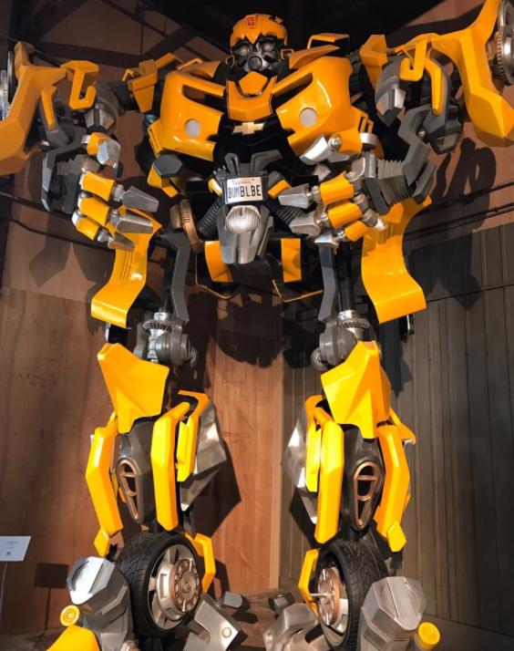 Sightings at Paramount Studio Tour: Bumblebee the Transformer movie
