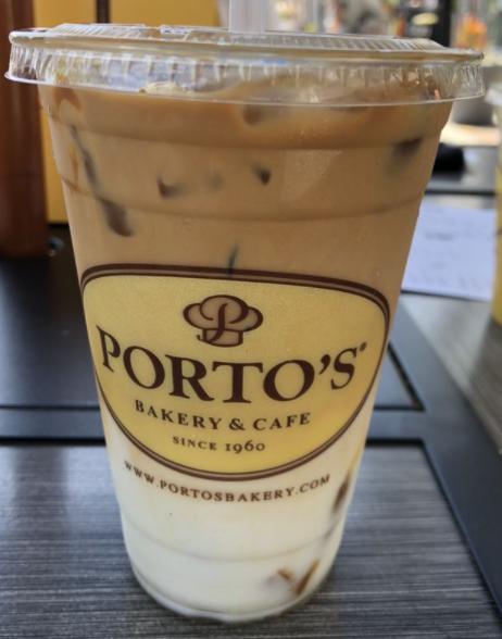 Dulce De Leche latte at Porto's Bakery