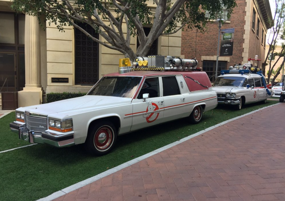 Sightings at Paramount studio tour: Ghost Busters cars