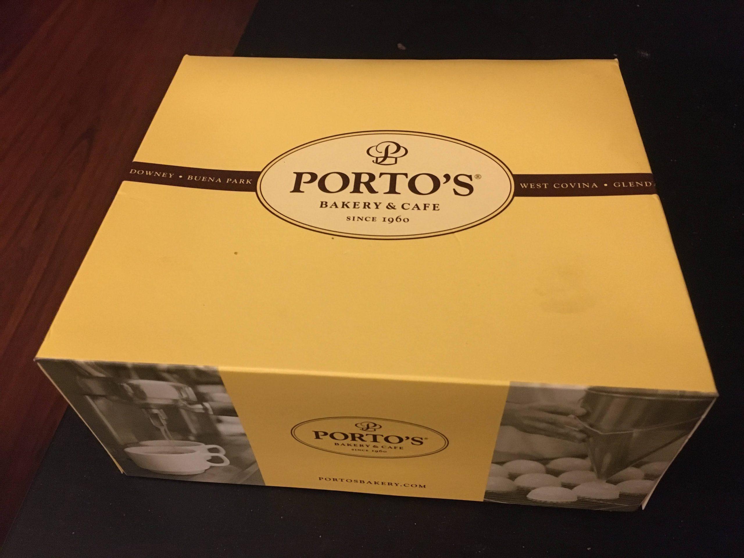 Porto's Bakery's Famous Yellow box