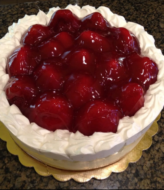 Strawberry Cheesecake at Porto's Bakery