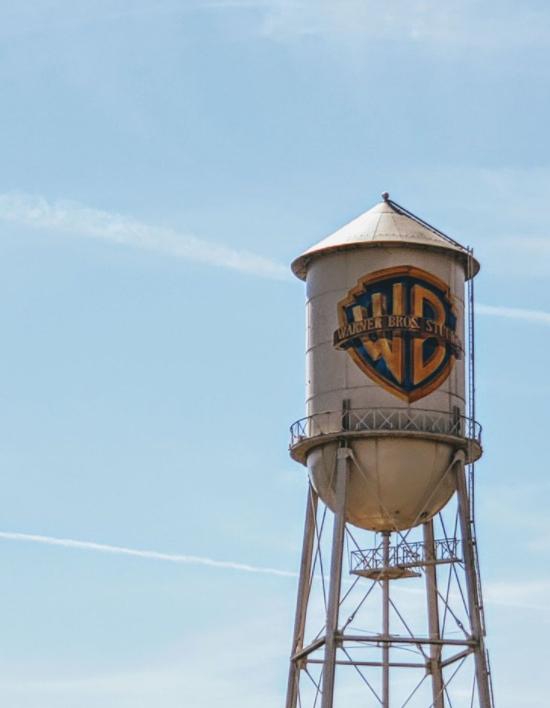 Sights on the Warner Bros Studio tour: Warner Bros tower