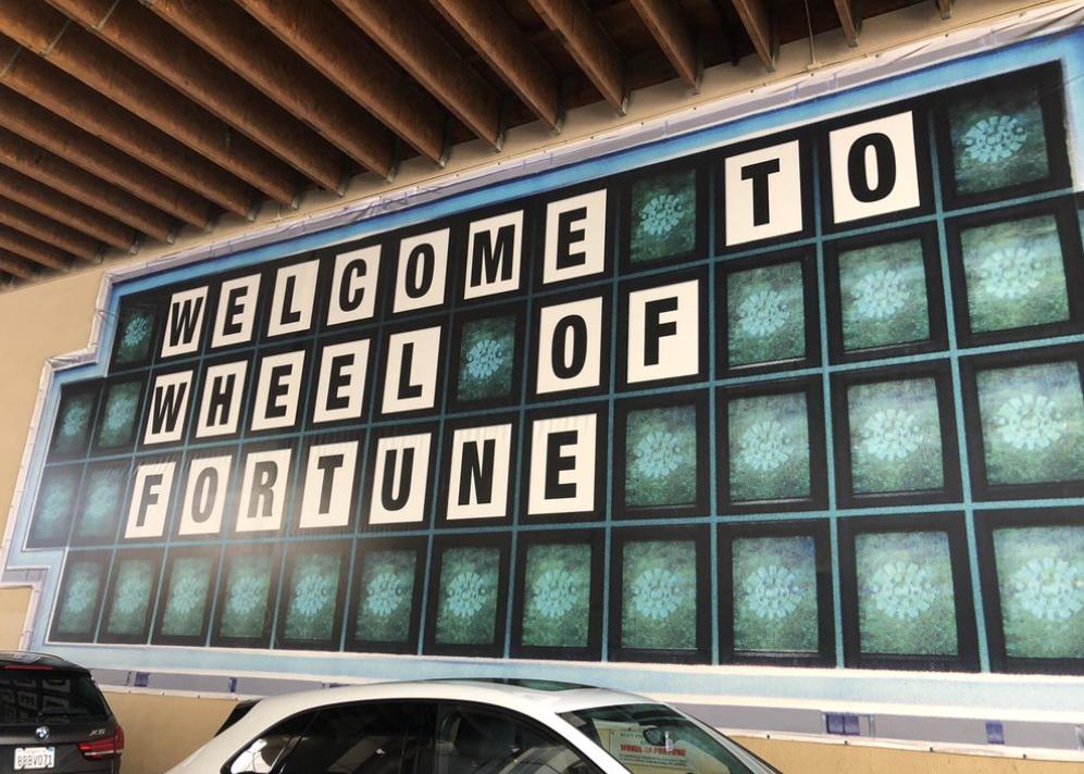 Sightings at Paramount Studio tour: Wheel of Fortune set