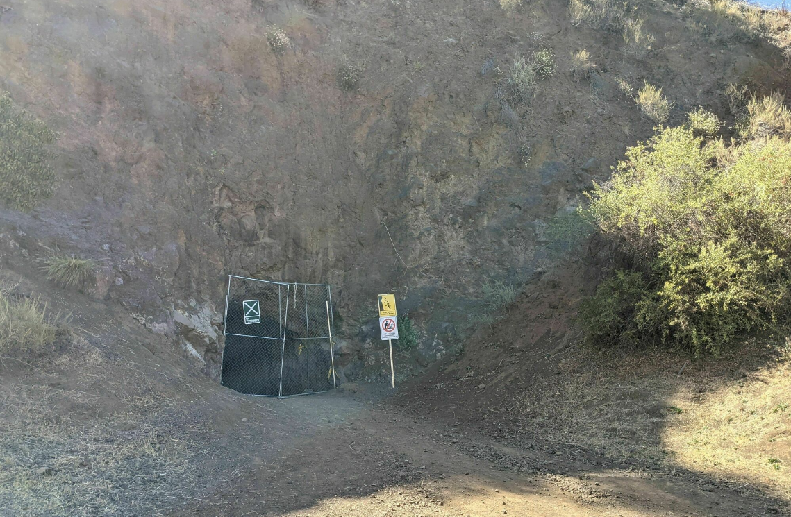 Hike leading to entrance of Bronson Cave