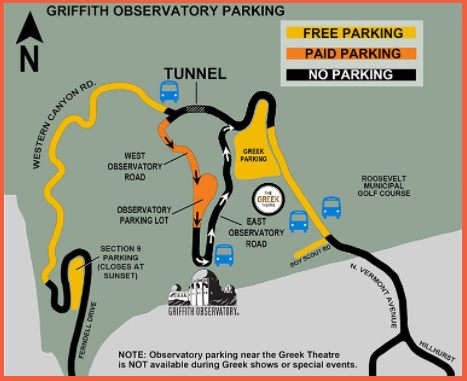 Paid and Free Parking at Griffith